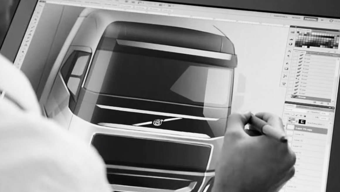 Vídeo sobre o design da cabina do Volvo FH