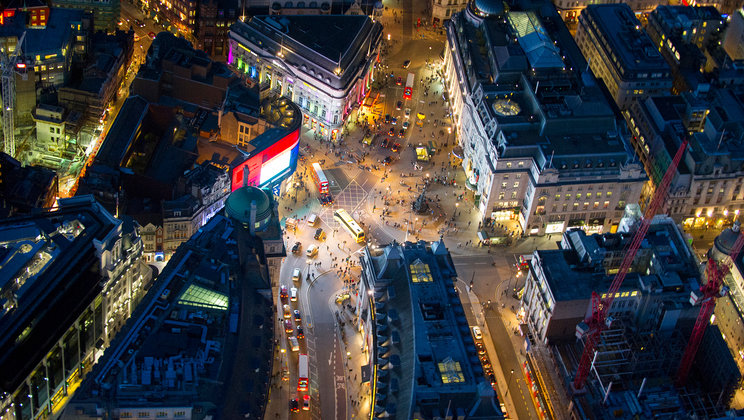 Piccadilly Circus, central London.